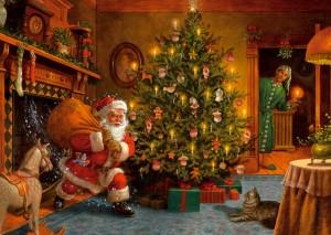 Der Nikolaus kommt - 1000 Teile Puzzle - Jumb