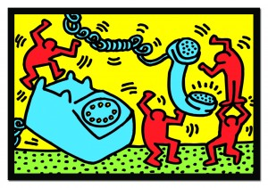 Figuren mit Telefon - Keith Haring Puzzle 500 Teile - Educa