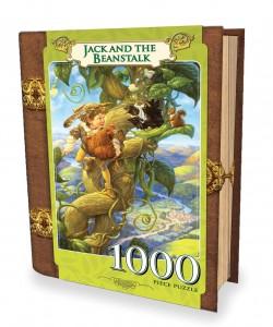 Hans und die Bohnenranke - Buch-Box - Scott Gustaufson 1000 Teile Hochformat Puzzle - Classic Books - Masterpieces Puzzle