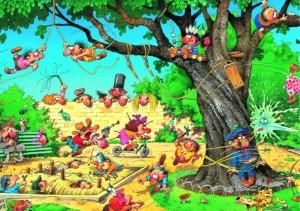 Spielplatz - Loup 1000 Teile Puzzle - Heye