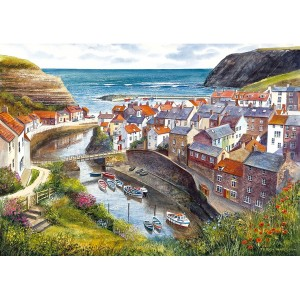 Staithes - Terry Harrison 1000 Teile Querformat Puzzle - Gibsons