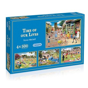 Zeit unseres Lebens - Trevor Mitchell 4x500 Teile Puzzleset - Gibsons