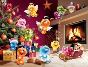 Wilde Weihnachten - Gelini 2000 Teile Puzzle - Ravensburger