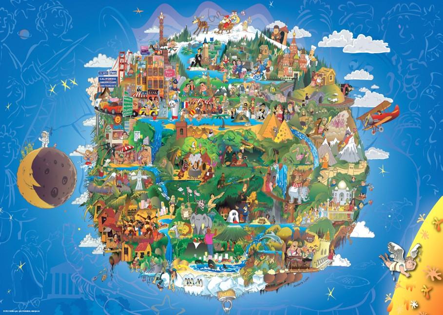 Die Erde - Anders Lyon 1000 Teile Querformat Puzzle - HEYE Verlag