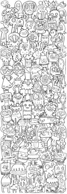 Mal mich aus - Jon Burgerman 1000 Teile Vertikalpuzzle - HEYE Verlag