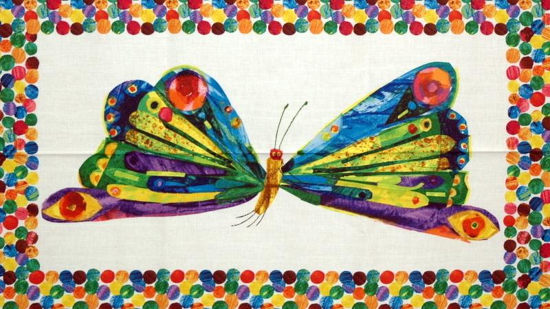 Die kleine Raupe Nimmersatt-Schmetterling