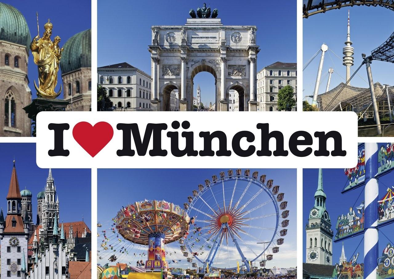 Schmidt Spiele Puzzle I love München