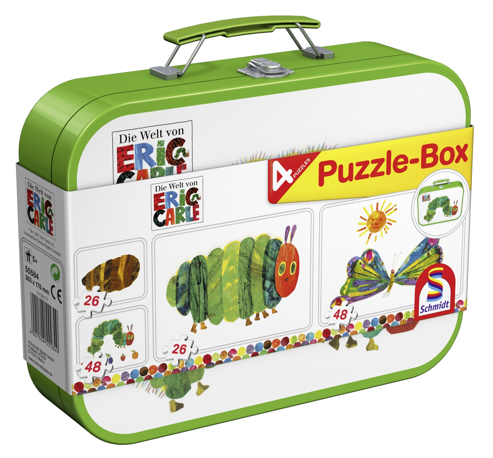 Puzzle Verpackung Koffer