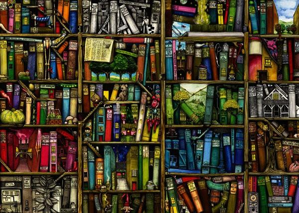 Bücherregal gezeichnet  Die besten Puzzles 2013 - Ein Jahresrückblick voller Puzzleteile ...