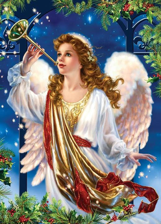 weihnachtliche Puzzle Engel