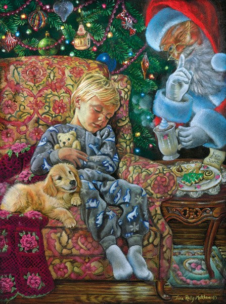 weihnachtliche Puzzle Kind