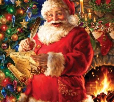Das weihnachtliche Puzzle –  Wie der Weihnachtsmann durch den Kamin passt!