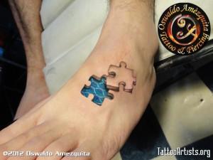 3D Puzzleteil Tattoo - Puzzle Tattoo