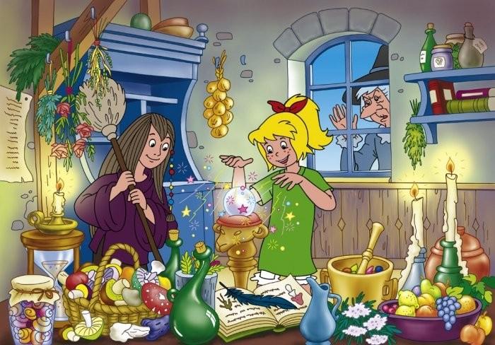 Bibi und Tina Puzzle hexenkuecheschmidtpz100bibiblock_00